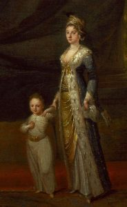 Mary Wortley Montagu with her son Edward, by Jean-Baptiste van Mour